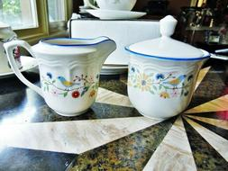3 PC NEW OTHER BRICKOVEN HERITAGE STONEWARE SUGAR BOWL LID &