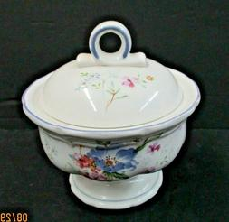 Mikasa French Countryside Blue Bouquet Sugar Bowl with Lid