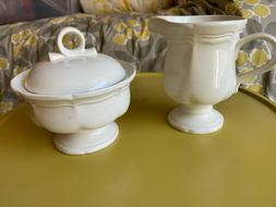 Mikasa French Countryside Stoneware Sugar Bowl With Lid & Cr