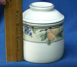 """MIKASA Garden Harvest intaglio Small Canister/lid 4"""" Seal Co"""