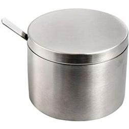 IMEEA Sugar Bowl With Lid And Spoon SUS304 Stainless Steel S