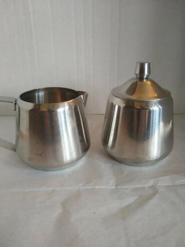 18 8 stainless steel creamer and sugar