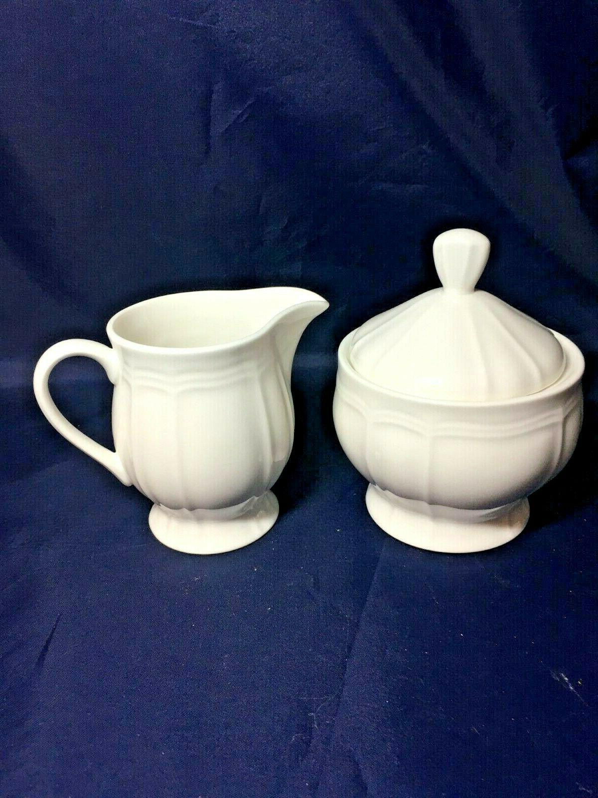 ultima creamer and covered sugar bowl antique