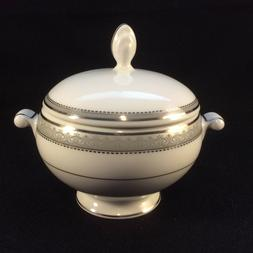 New With Label~Mikasa PLATINUM CROWN Sugar Bowl With Lid L34