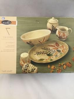 Gibson SHADOW WOOD Completer Set, Platter, Bowl, S&P Shakers