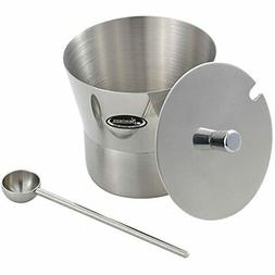 Newness Stainless Steel Sugar Bowl With Lid And Spoon Home,
