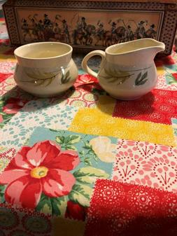 Franciscan Earthenware Sugar Bowl and Creamer Autumn Leaves